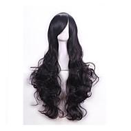 de alta calidad de 80 cm de largo pelo sintético ondulado pelucas mujeres peluca pelucas cosplay sintéticas peluca fiesta de disfraces