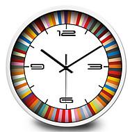 personality creative metal silent color quartz wall clock