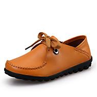 Oxford-kengät-Tasapohja-Naisten kengät-Nahka-Musta / Ruskea / Keltainen-Rento-Comfort
