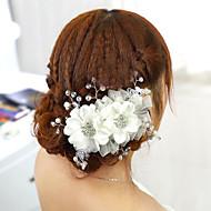 Women's Fabric Headpiece-Wedding Hair Tool 1 Piece Red / White Flower 15cm