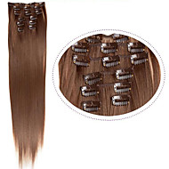 "22""(60cm) 7pcs #60 Blonde Clip in Hair Extensions Long Blonde Hair Fiber Synthetic Hair Blonde Hair Extention"