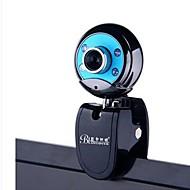 BLUELOVER W9 kamera hd nattesyn lys USB2.0 webcam indbygget mikrofon