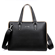 Classical Cool Style Men's Bussiness Genuine Leather Shoulder Bag Briefcase