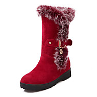 Women's Shoes Low Heel Snow Boots / Round Toe Boots Dress / Casual Black / Red