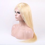 Silk Straight Light Blonde 613#  Normal Brazilian Human Remy Hair Full Lace Wig With Baby Hair
