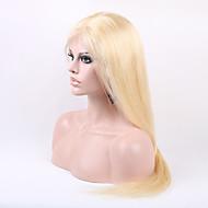 de seda de luz em linha reta loira 613 # Mechas humano peruca normais brasileira completa com cabelo do bebê