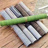 obdélníkový Jednobarevné Proužky Prostírání , plast Materiál