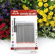 Hibajavítók Toll Gél tollak Toll,Műanyag Hordó Fekete Ink Colors For Iskolai felszerelés Irodaszerek Csomag