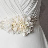 Satin Wedding / Party/ Evening / Dailywear Sash - Appliques / Pearls / Floral / Rhinestone Women's Sashes