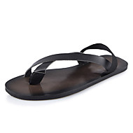 Men's Sandals Summer Sandals PU Casual Flat Heel Others Black / Brown / White Others