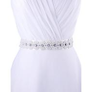 Satin Wedding / Party/ Evening / Dailywear Sash - Beading / Appliques / Pearls / Rhinestone Women's Sashes