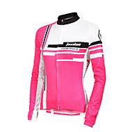 TASDAN Wielrenshirt Dames Lange Mouw Fietsen Ademend Sneldrogend Ultra-Violetbestendig Zweetafvoerend Shirt Kleding Bovenlichaam100%
