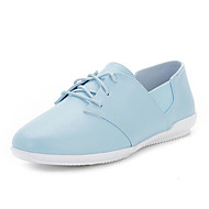 Damen-Flache Schuhe-Kleid Lässig-Mikrofaser-Flacher Absatz-Komfort-Blau Rosa Weiß