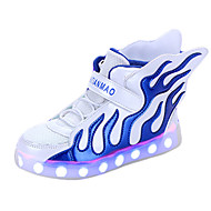 LED Boys' Shoes Casual PU / Tulle Flats / Clogs & Mules Spring / Fall Comfort /  Flats Others / Hook & Loop / Split Joint