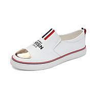 גברים-נעלי ספורט-קנבס-נוחות-לבן-שטח יומיומי ספורט-עקב שטוח