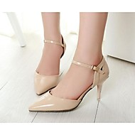 Women's Heels Spring / Summer / Fall Heels PU Outdoor / Casual Stiletto Heel Buckle Black / Pink / Beige Others