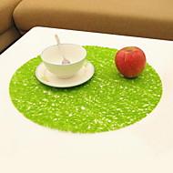 Plastique Rond Sets de table / Dessous-de-verres