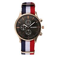 Men Rose Gold R-Watch Nylon Strap 40 mm Unisex Watches Men Wristwatches Fashion Quartz Watch Relogio Masculino