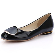 Women's Shoes Patent Leather Summer/Round Toe Flats Office & Career/Casual Flat Heel Others Black/Blue/Pink/White