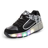 לבנות-נעלי ספורט-PU-נעלי סקטים-ורוד / אדום / לבן-שטח / קז'ואל / ספורט-פלטפורמה