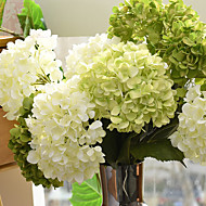 "27.6"" Large Size 1 Bouquet Silk Hydrangeas Artificial Flowers Home Decoration Wedding Bouquet"