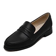 Damen-Loafers & Slip-Ons-Lässig-PU-Flacher Absatz-Rundeschuh / Flache Schuhe-Schwarz