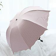 Rouge / Noir Ombrelle pliable Ombrelle / Ensoleillé et Rainy / Parapluie Métallique / Textile / SilikonPoussette / enfants / Voyage /