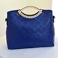 Women PU Casual  Shopping Tote High-grade Diamond Embossed Metal Parts Evening Bag
