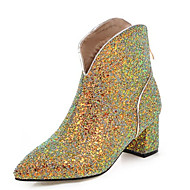 Women's  Fashion Boots / Pointed Toe Glitter / Customized Materials Party & Evening / Dress / CasualChunky