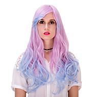 rosa azul do inclinação cabelos longos lolita wig.wig, peruca dia das bruxas, peruca cor, peruca de moda, peruca natural, cosplay peruca.