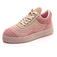 Women's Sneakers Fall Comfort Suede Athletic / Dress / Casual Flat Heel Others Pink / White / Gray Others