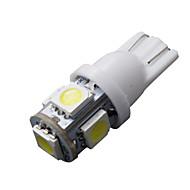 10 x LED xenon fehér ék t10 5050 5-SMD izzók 192 168 194 W5W 2825 158