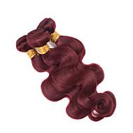 Hot Sale! 3Pcs/Lot Malaysian Virgin Hair Weaves Body Wave #99J Virgin Hair Weave  Blonde Malaysian Natural Hair