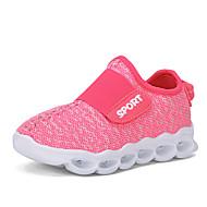 Djevojčice Sneakers Udobne cipele Til Proljeće Jesen Atletski Kauzalni Udobne cipele Vezanje Niska potpetica Crn Fuksija 2.5 cm - 4.5 cm