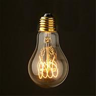 40w 2700k médio estilo filamento antigo luz incandescente lâmpadas do vintage edison lâmpada a19 (AC220-240V)