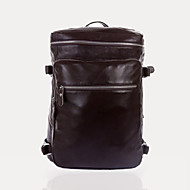 Unisex Cowhide Casual Backpack