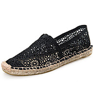 Women's Flats Spring/Summer/Fall Espadrilles / Flats Tulle Athletic / Casual Flat Heel Black /White Sneaker