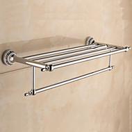 צדף לחדר האמבטיה / מחמם מגבות / כרום / התקנה על הקיר /60*22.3*13.7cm /פלדת אל חלד / אבץ אלוי /מודרני /60cm 22.3cm 1.424
