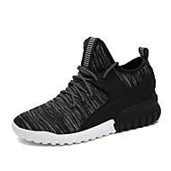 muške cipele atletski tkanina modne patike crna / siva