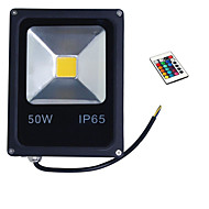 50w rgb kleur licht IP65 LED schijnwerper zwarte shell schijnwerper (85-265V)