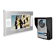 de draadloze zichtbaar talkback deurbel. 7 inch het huis van de deurbel. foto's, monitoring, video, opent het slot