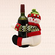 1pc Καλά Χριστούγεννα χιονάνθρωπος λωρίδα μπουκάλι κρασί προμήθειες κόμμα κάτοχος πετσέτα τραπέζι διακόσμηση του σπιτιού δείπνο
