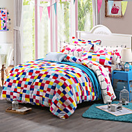 Colorul Print Bedlinen Fleece winter bedding set queen king size soft bedsheet pillowcase Duvet cover 4pcs bed set