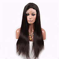 Hot Selling Natural Black Color Human Hair Full Lace Wig Natural Straight 130% Density with Baby Hair