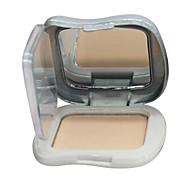 1 Compactpoeder Droog Geperst Poeder Bedekking / Concealer Gezicht Goud / Natural / Kristal china maycheer