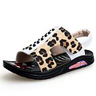 Sandály-Koženka-Sandály-Chlapecké-Černá / Bílá-Běžné