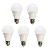 5pcs dimmable 5W הלבן המגניב החמה 12x5730smd E27 נורה LED גלובוס מנורת אור