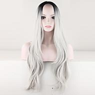 Frauen sexy ombre Perücke schwarz graue Perücke lockige Kostüm brasilianische Damen synthetische malaysisch Perücken Haarmode Perücke