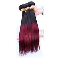 Омбре Индийские волосы Прямые волосы ткет