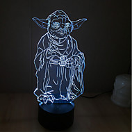 star wars Yoda touch-dæmpning 3D LED natlys 7colorful dekoration atmosfære lampe nyhed belysning christmas lys